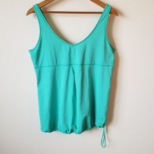 Lucy Turquoise Adjustable Side Tie Athletic Tank